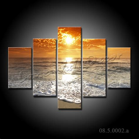 canvas prints no frame canvas only 5 pieces canvas painting sunset above