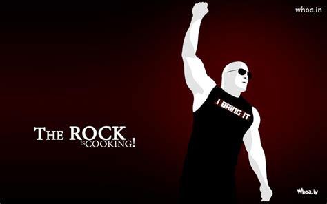 wallpaper cartoon rock wwe star the rock is cooking hd wrestlers wallpaper