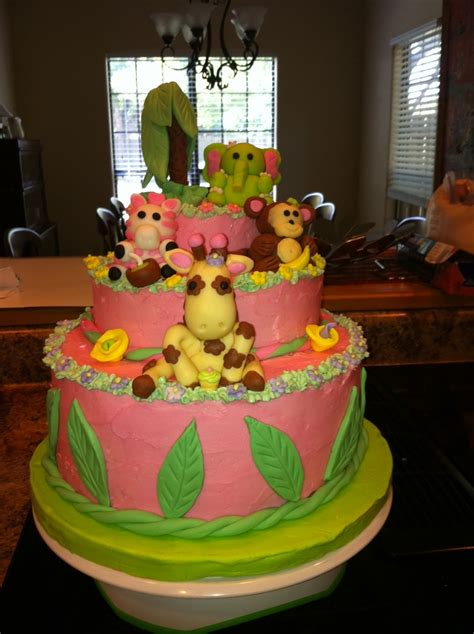 Jungle Theme Baby Shower Cakes by Hill Country Backyard Homestead Jungle Theme Baby Shower Cake