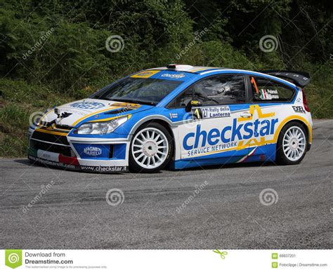 Citroen Rally Car by Citroen C4 Wrc Rally Car Editorial Photo Image 69837201