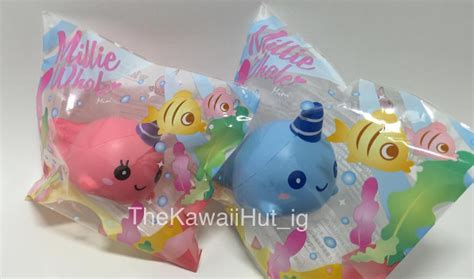 Squishy Ibloom Millie Billie Whale Normal Size 1 the kawaii hut mini ibloom millie billie whale squishy