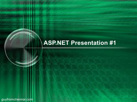 asp net tutorial powerpoint presentation asp net tutorial presentation 1