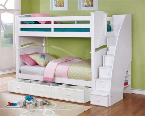 bunk beds with staircase kids beds with awesome built ins bedroom furniture