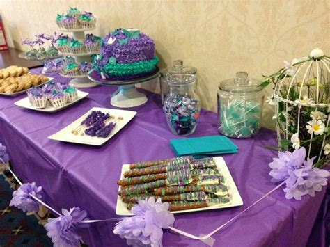 Teal And Purple Baby Shower by Purple And Teal Garden Baby Shower Baby Shower Ideas Baby Showers Babies And