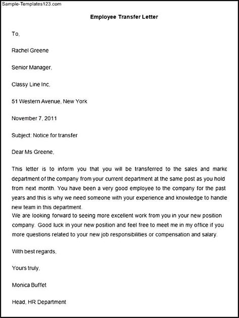 Recommendation Letter For Transfer Of Employee Transfer Letter From Employer Pictures To Pin On Pinsdaddy
