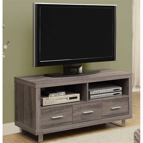 3 Drawer Stand by 3 Drawer Media Stand With Reclaimed Wood Look In Tv Stands