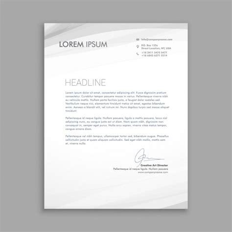 Briefpapier Modern Vorlage Gesch 228 Ftsbrief Mit Grauen Wellen Der Kostenlosen Vektor