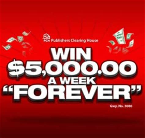 Sweepstakes Clearinghouse Credit Vouchers - pch 5000 forever pch com 5 000 a week for life sweepstakes sweepstakes and