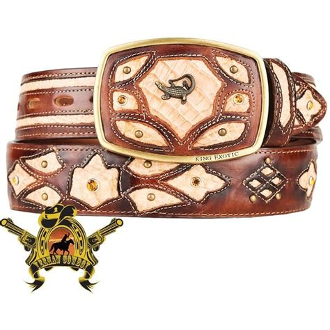 Handcrafted Western Belts - caiman belts caiman belly belt caiman cowboy belts