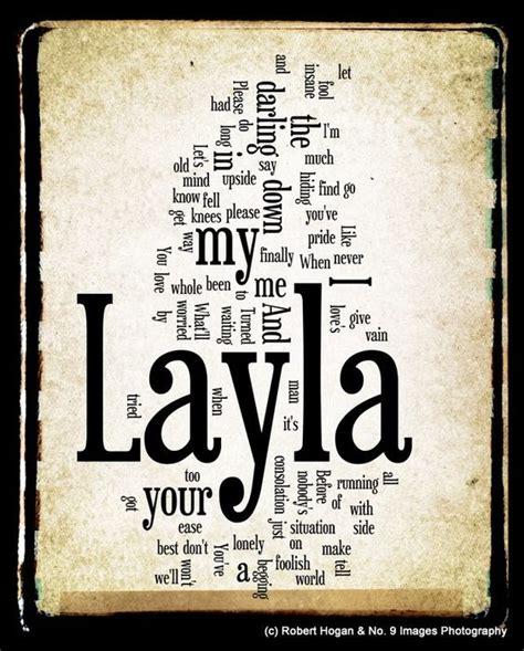 Lv Syari Layla Alpukat layla lyrics eric clapton word word cloud 8x10 print gift idea 15 00 via etsy