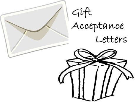 Gift Offer Letter How To Write A Gift Acceptance Letter