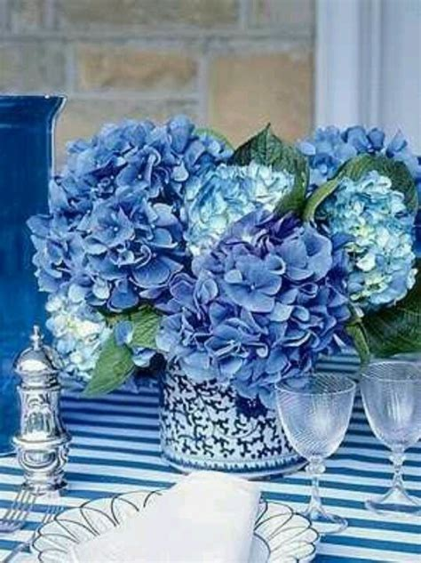 blue hydrangea centerpiece hydrangea centerpiece beautiful blues