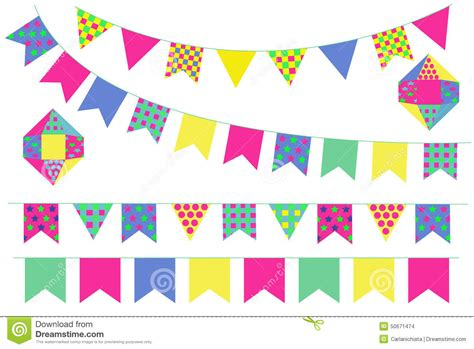 Sale Bunting Flag Hbd Colorful bunting banners stock vector image of blue illustration