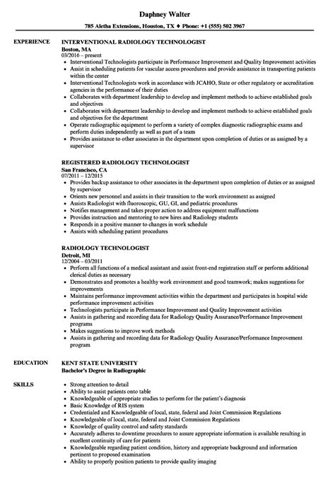 ray technologist resume examples resume templates