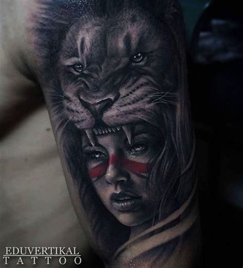 lion headdress tattoo headdress