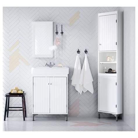 bathroom storage solutions ikea silver 197 n hamnviken wash basin cabinet with 2 doors white