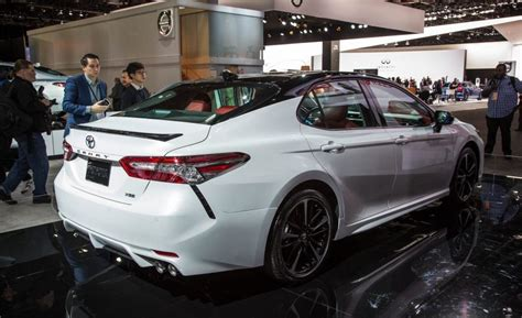toyota camry 2018 white all new 2018 toyota camry comes to chicago auto show