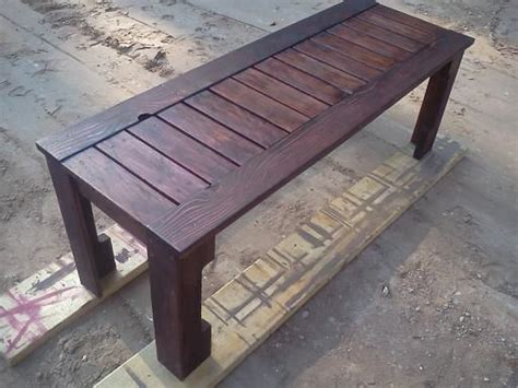 simple outdoor bench  pallets    home