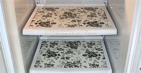 How To Make A Paper Refrigerator - 1 contact paper refrigerator makeover hometalk
