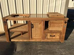 Kitchen Island Storage Table build a barbecue grill table diy projects for everyone