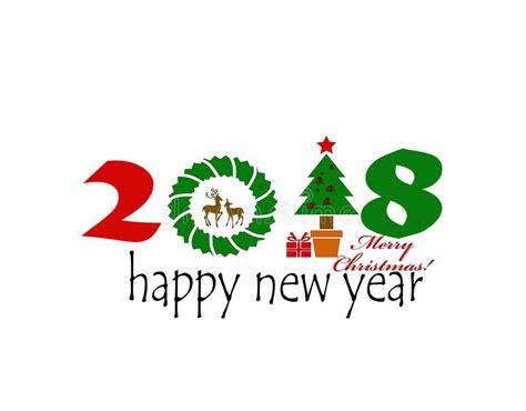 clipart buon natale buon natale 2018 illustrazione di stock illustrazione di