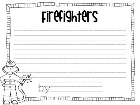 october writing paper firefighter writing paper pdf october
