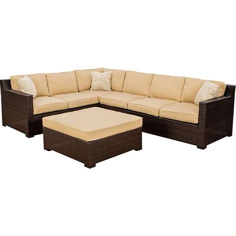 patio sectional cushions hanover metropolitan 5 piece patio sectional seating set