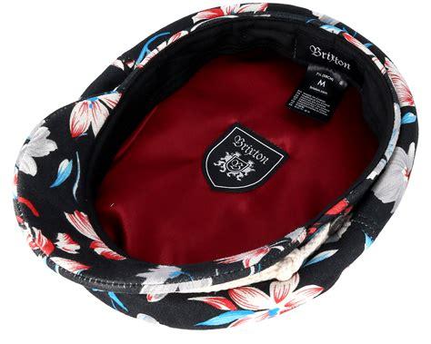 Floral Flat Cap fiddler black floral flat cap brixton keps hatstore se