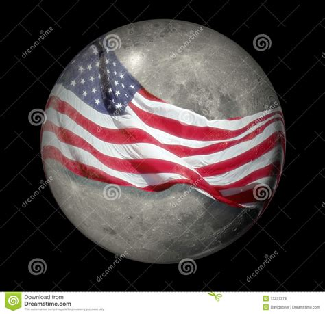 moon wrapped with flag stock illustration image of sphere