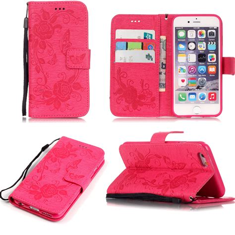 retro leather wallet butterfly stand cover for iphone 8 7 plus 5 6s 6 plus ebay