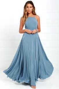blue dress beautiful slate blue dress maxi dress backless maxi dress 64 00