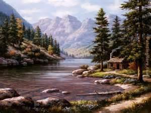 sung log cabin retreat painting anysize 50 log