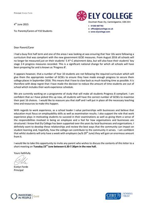 Gcse Work Experience Letter School Changes Pupils Gcses Mid Course And Blames Progress 8 Compliance