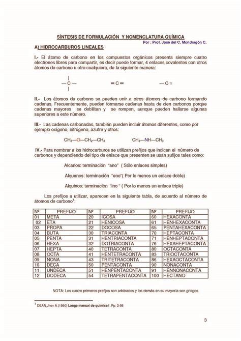 ejercicios de cadenas carbonadas pdf hidrocarburos reglas de nomenclatura monografias