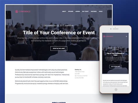 15 Best Free Event Website Templates Of The Year Event Website Template