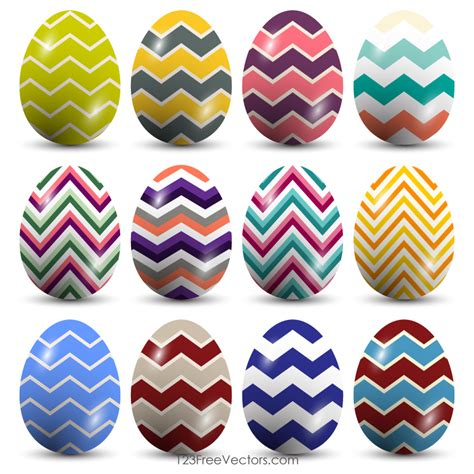 easter pattern vector chevron pattern easter eggs vector by 123freevectors on