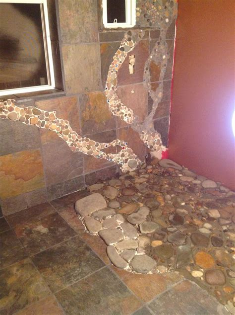 rock flooring bathroom 17 best images about master bath river rock shower on