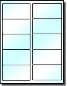 Avery Template 5163 200 clear glossy labels 4 x 2 for use in laser