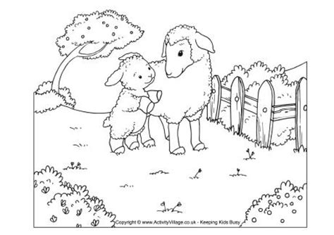 sheep pen coloring page sheep scene colouring page
