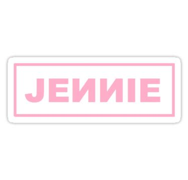 """blackpink jennie logo"" stickers by fijota | redbubble"