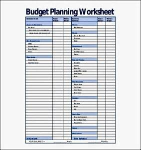 budget preparation template sle budget planning worksheet template pdf