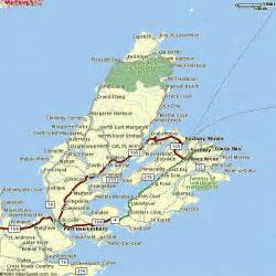 cape breton canada map local maps