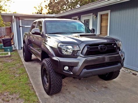 toyota tacoma blacked out blacked out headlights color grill black rims trd