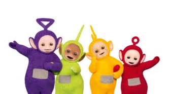 watching teletubbies lm red rose mummy
