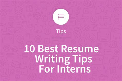 10 best resume writing tips for interns myperfectresume
