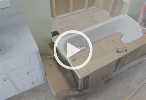 installation of bathtub how to remove and replace a bathtub at the home depot