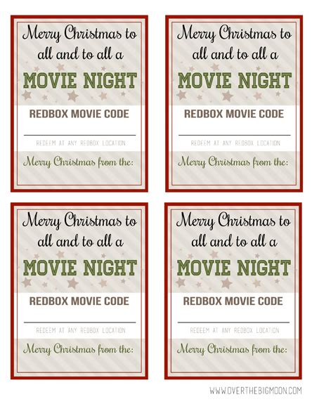 printable redbox gift tags redbox neighbor gift idea over the big moon