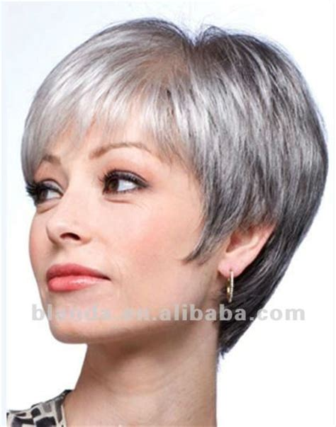 grey wigs for women over 70 grey human hair short bob style lace wig buy human hair
