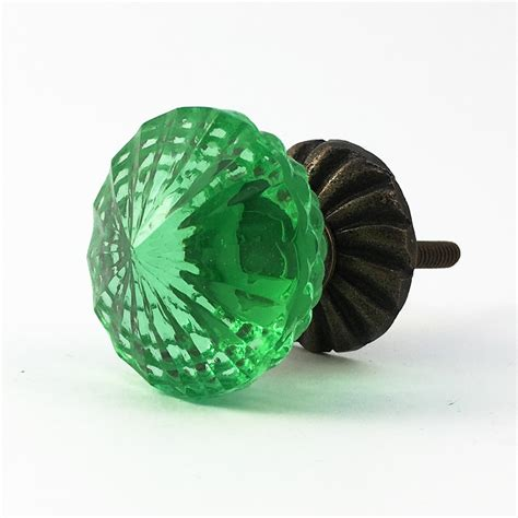 decorative glass knobs vintage green glass decorative knob decorative cabinet
