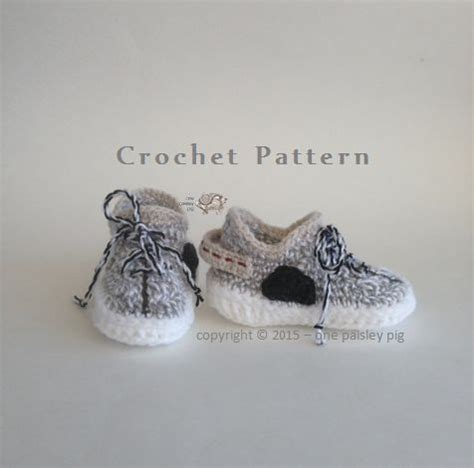 pattern yeezy yeezy boost 350 inspired baby shoes patterns crochet